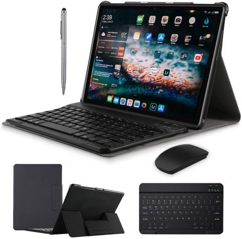 Android 9.0 Tablet PC with Wireless Keyboard Case